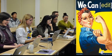 Women in Red - a project to add biographies of women to Wikipedia tickets