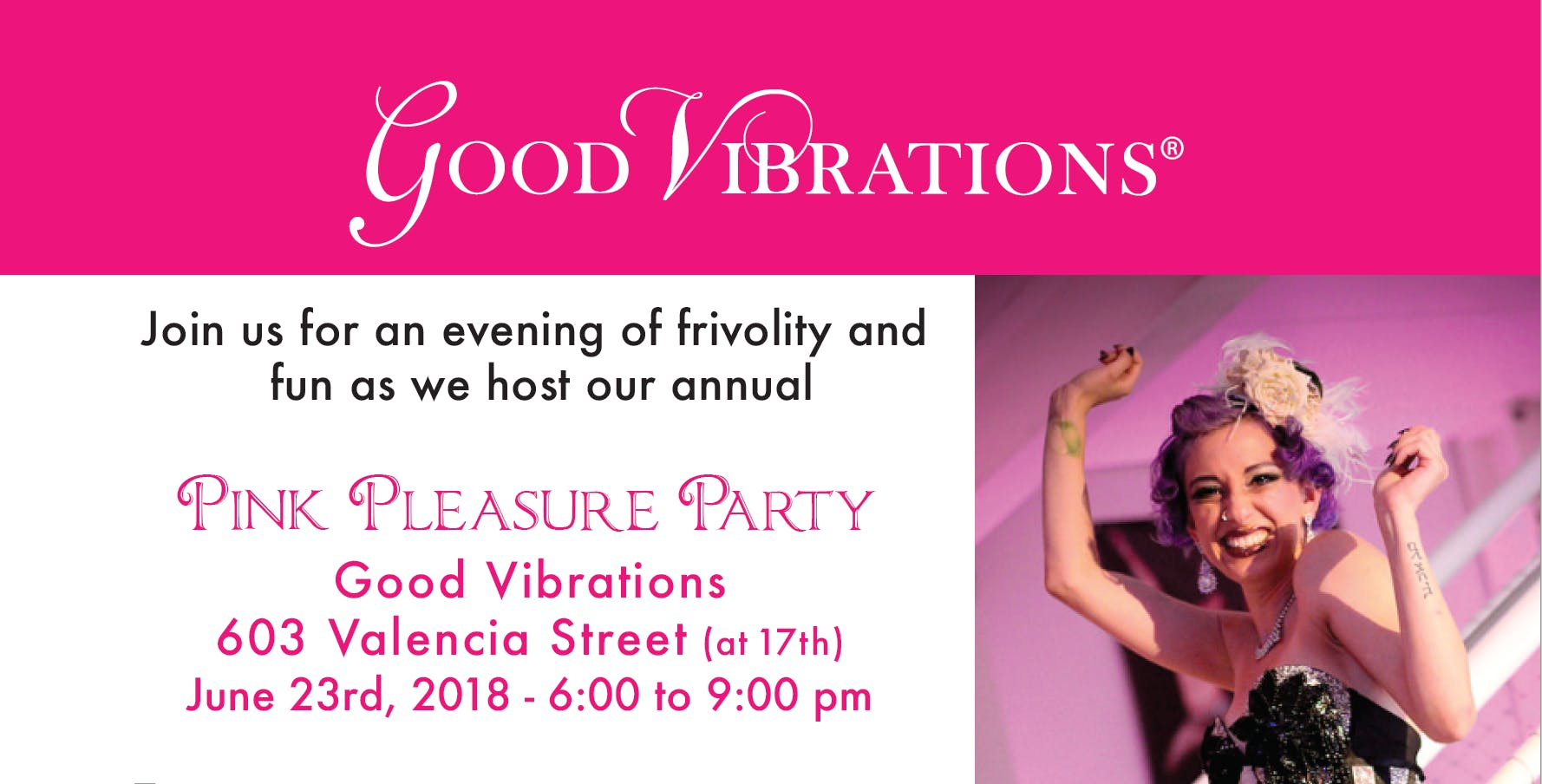 Annual Pink Pleasure Party at Good Vibrations