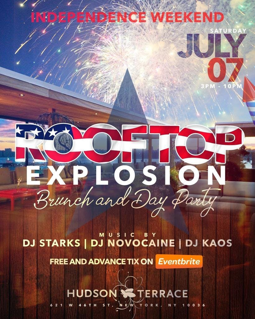 Sat. 07/07: Rooftop Explosion Brunch & Day Pa