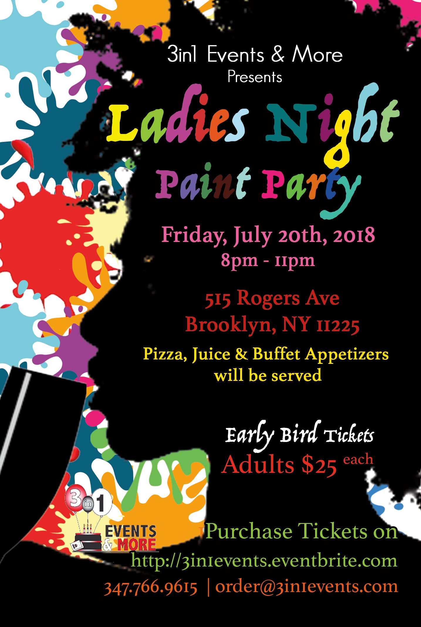 Ladies Night Afrocentric Paint Party | Friday