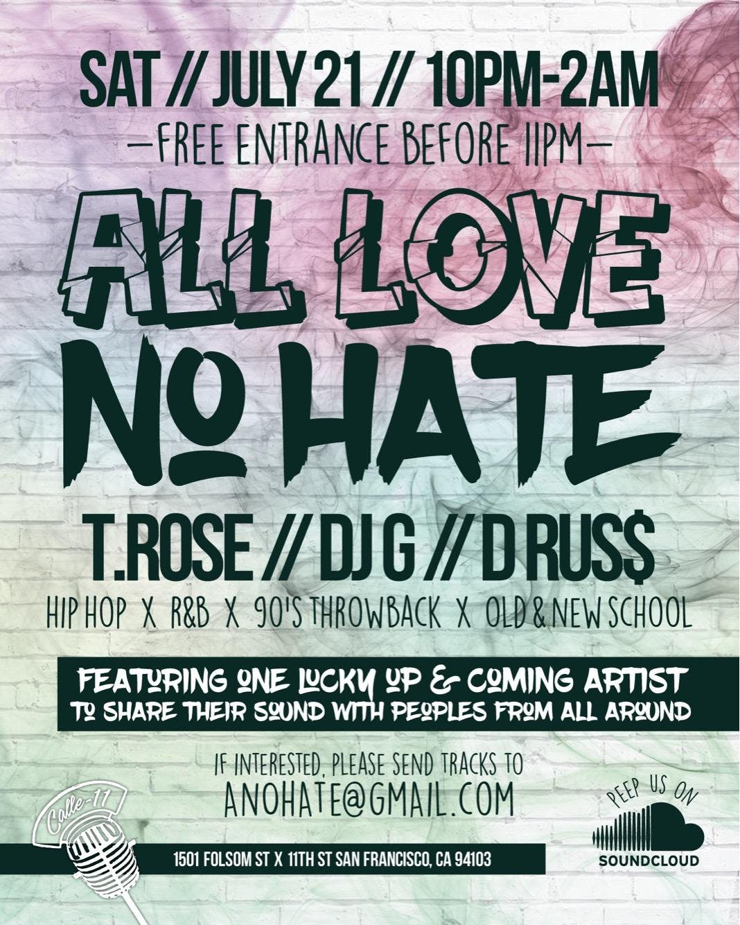 All Love No Hate: Hip-Hop Party