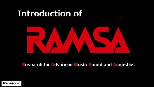 Intro of RAMSA sound by Panasonic