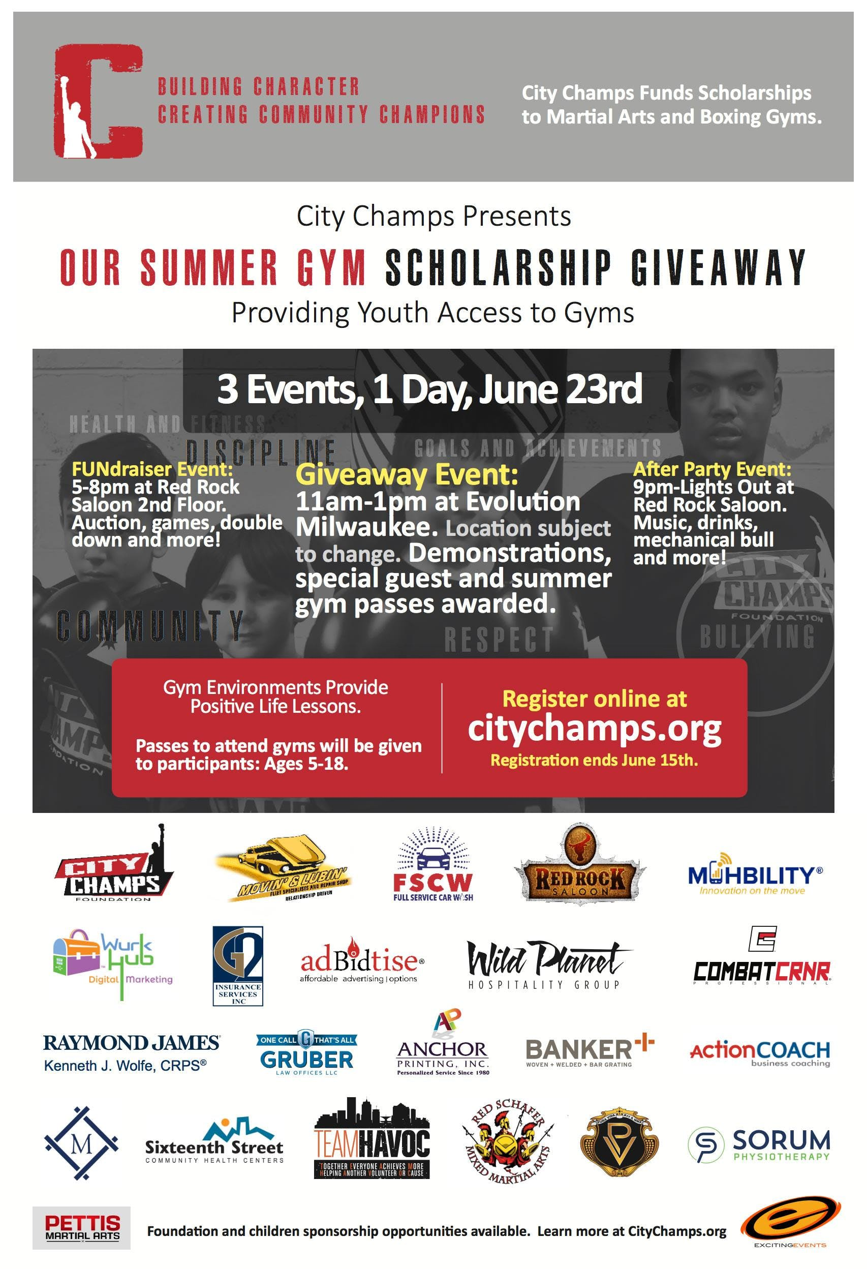 CITY CHAMPS FOUNDATION FUNDRAISING & SUMMER S
