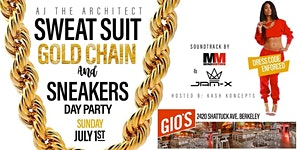 SWEATSUIT, GOLD CHAIN & SNEAKERS (DAY PARTY)