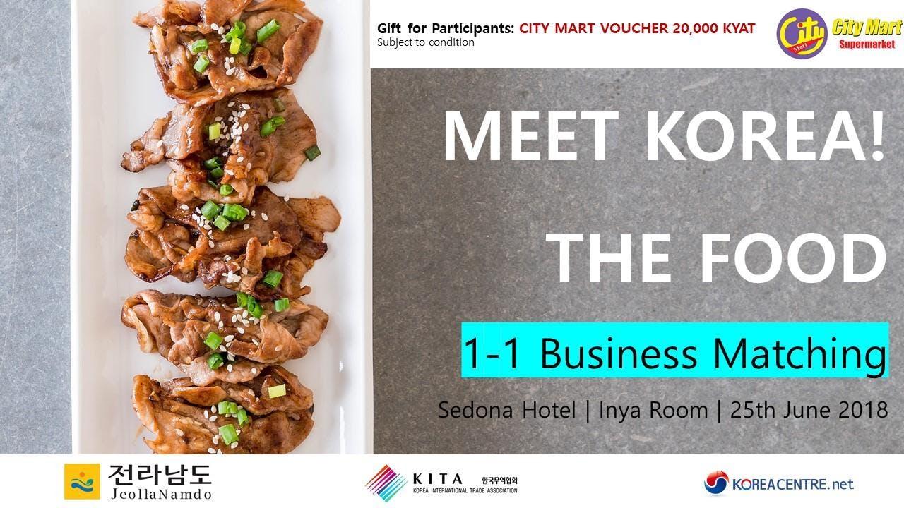 [GHKC] MEET KOREA  Business Match-Making with Korean Food Exporters