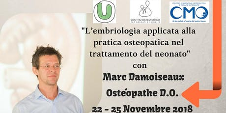 L'embriologia applicata all'osteopatia nel trattamento del neonato tickets