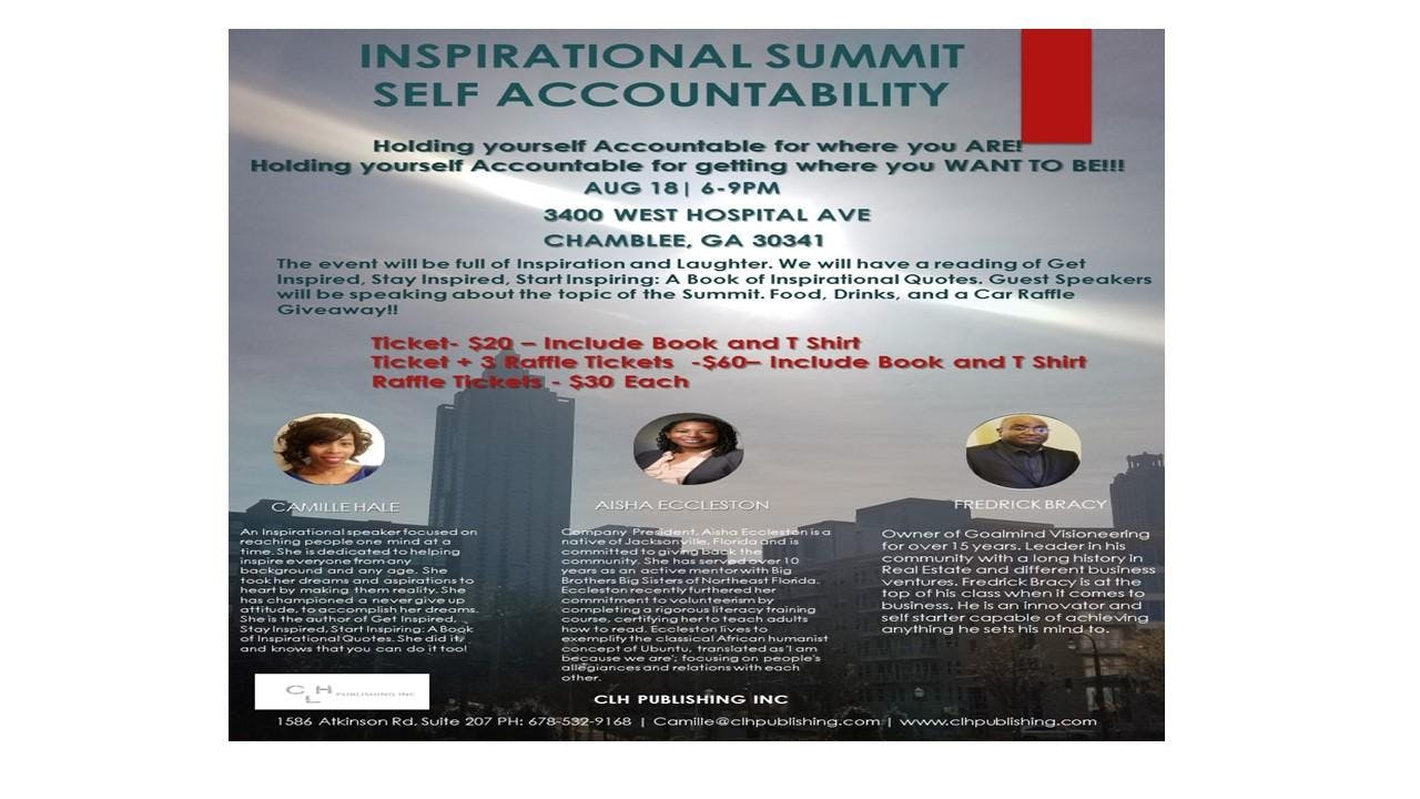 Inspirational Summit Self Accountability 18 Aug 2018