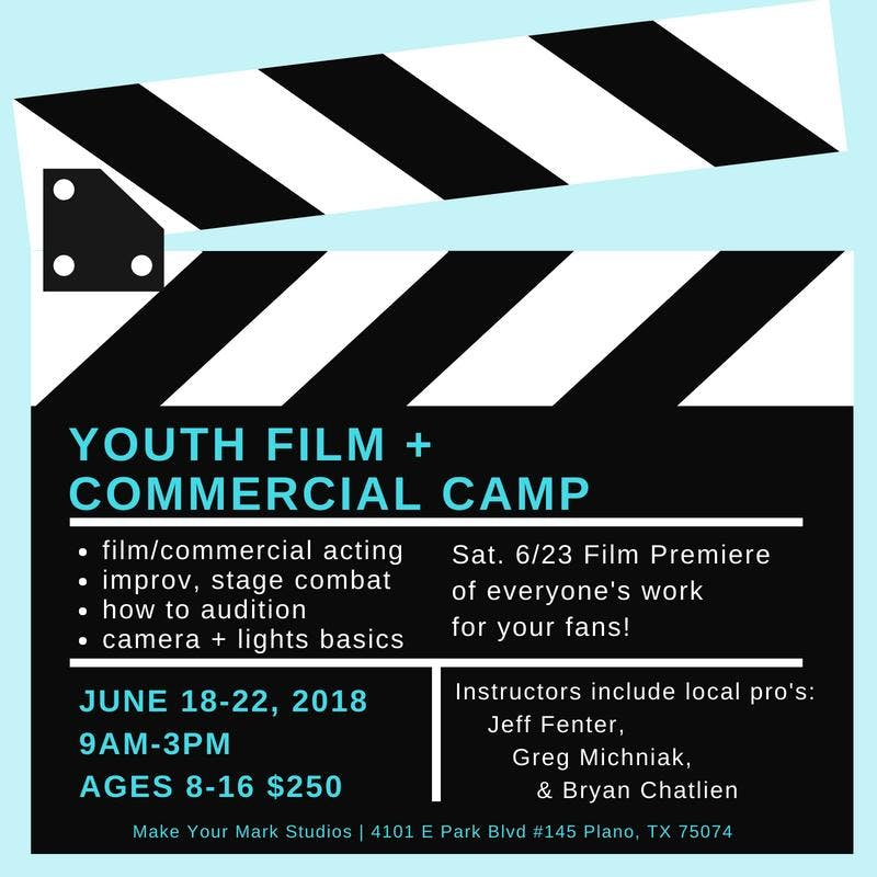 June 18-22, Youth Film + Commercial Camp