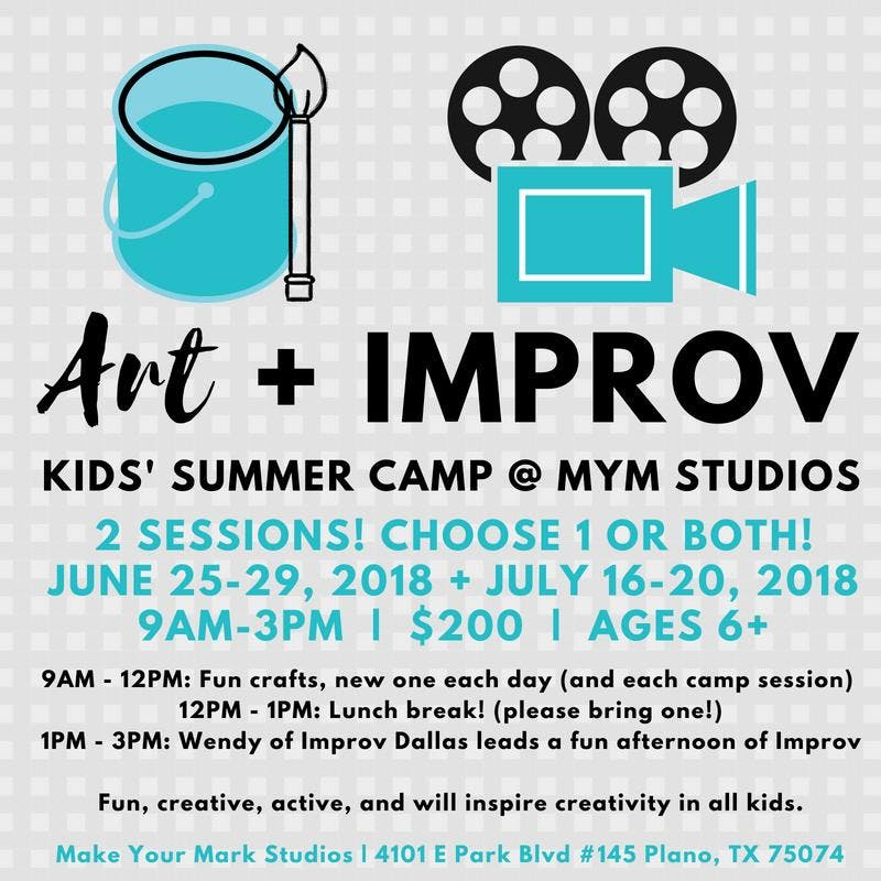 Art + Improv Camp, Session 1 (2 sessions to c