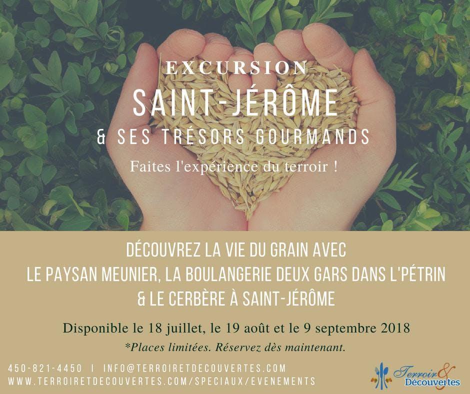 Excursion Saint-Jérôme et ses trésors gourman