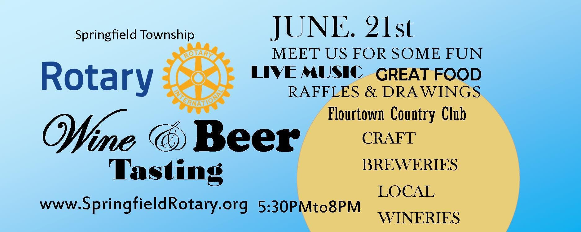 Springfield Township Rotary Club 1st Annual W