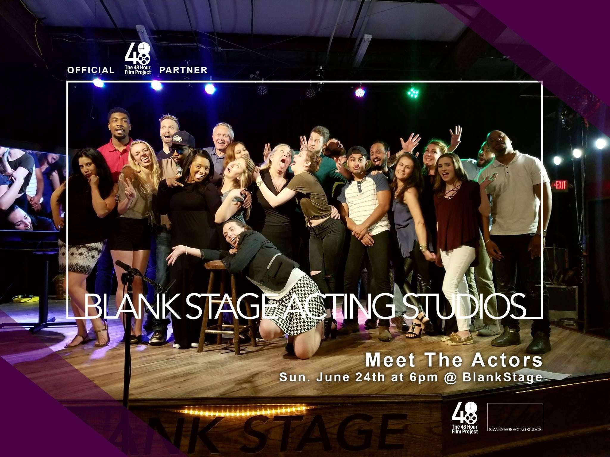 48hfp: Meet The Actors With Blank stage studi
