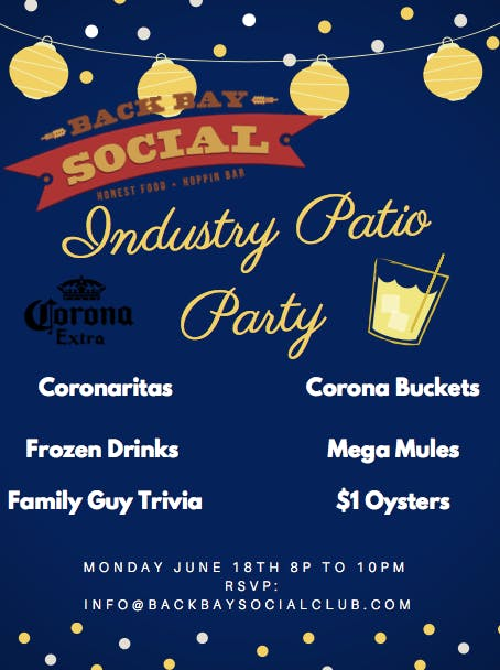 Industry Patio Party at Back Bay Social!