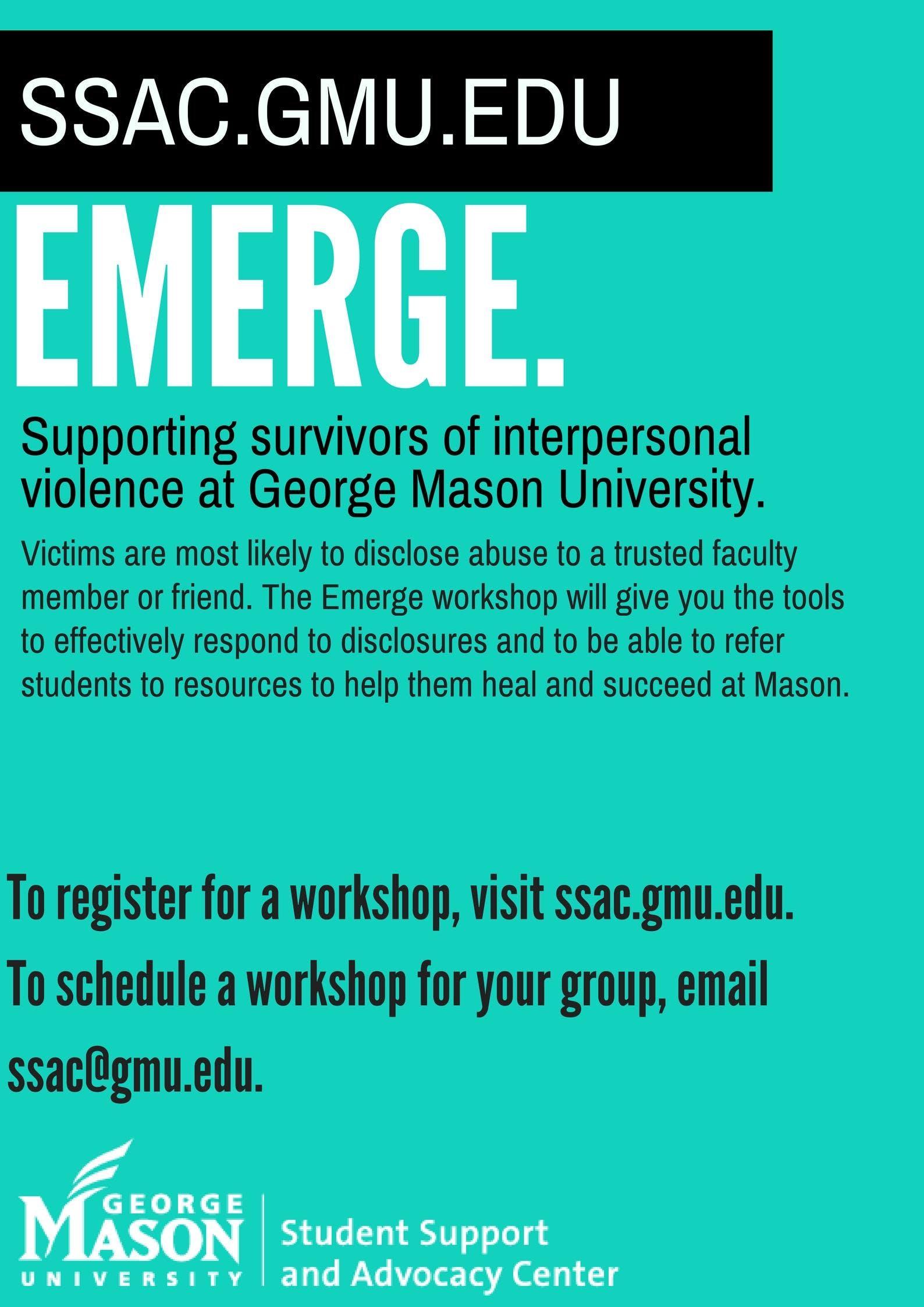Emerge Faculty & Staff Survivor Resource Trai