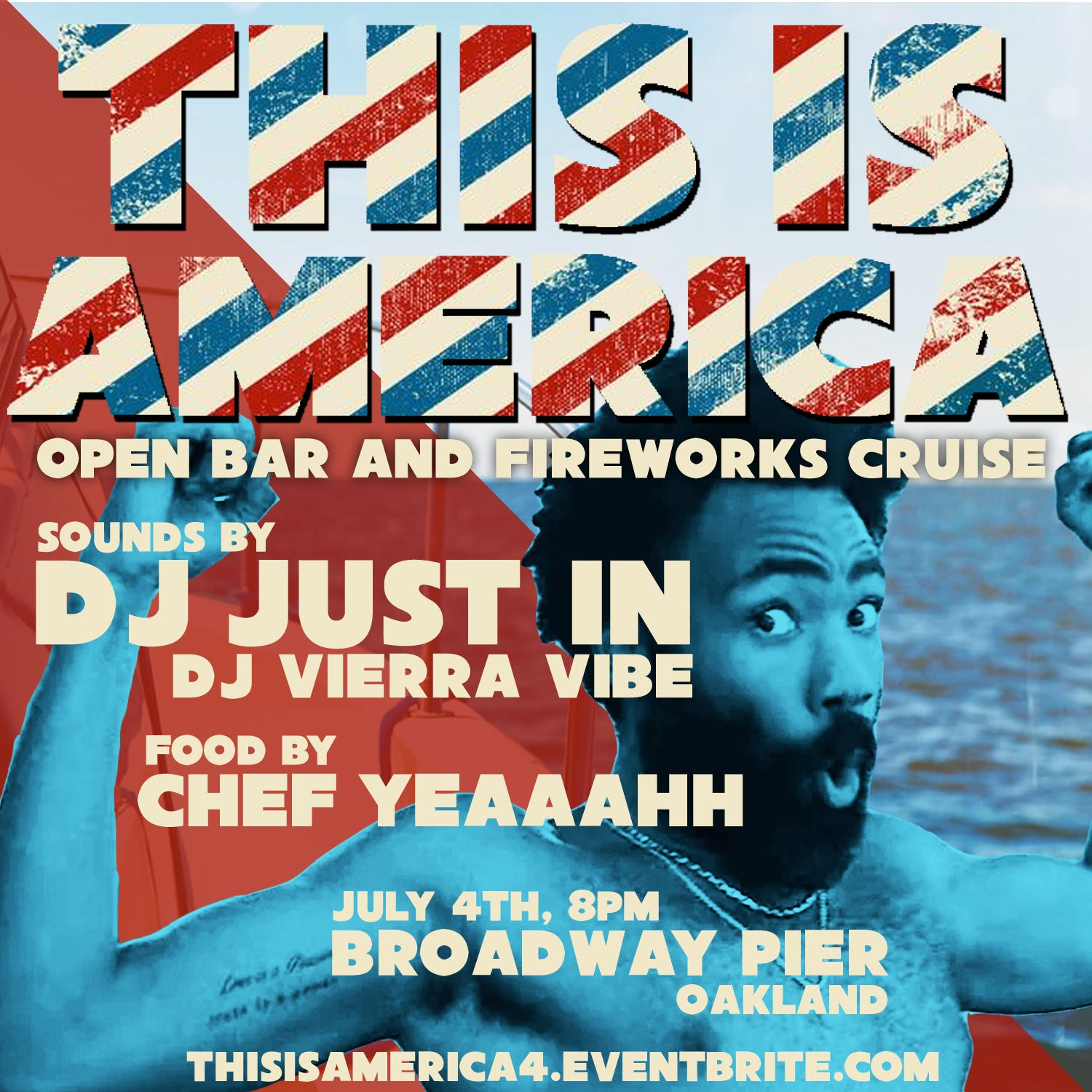 `This is America` Open Bar July 4th Fireworks Cruise