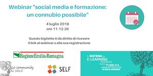 """Webinar """"Social media e formazione: un connubio..."""