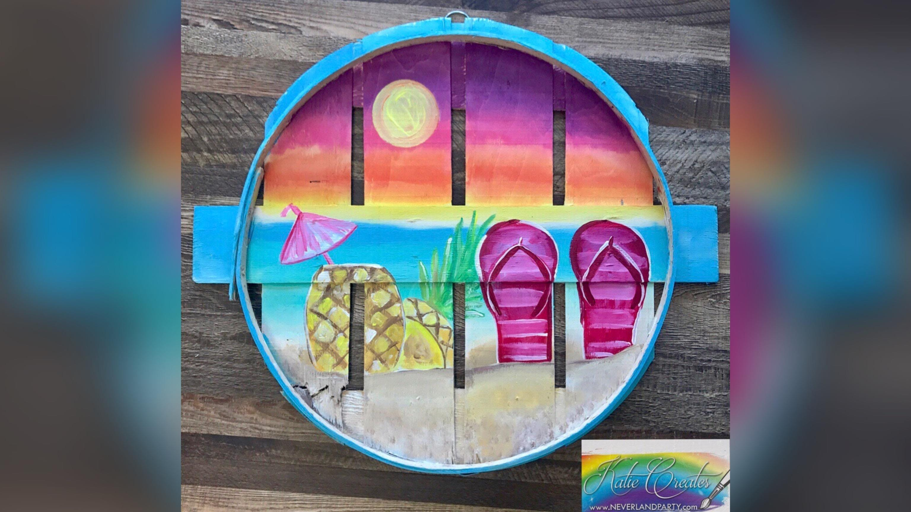 Tropical Beach Pasadena Pit Stop Pub With Artist Katie Detrich