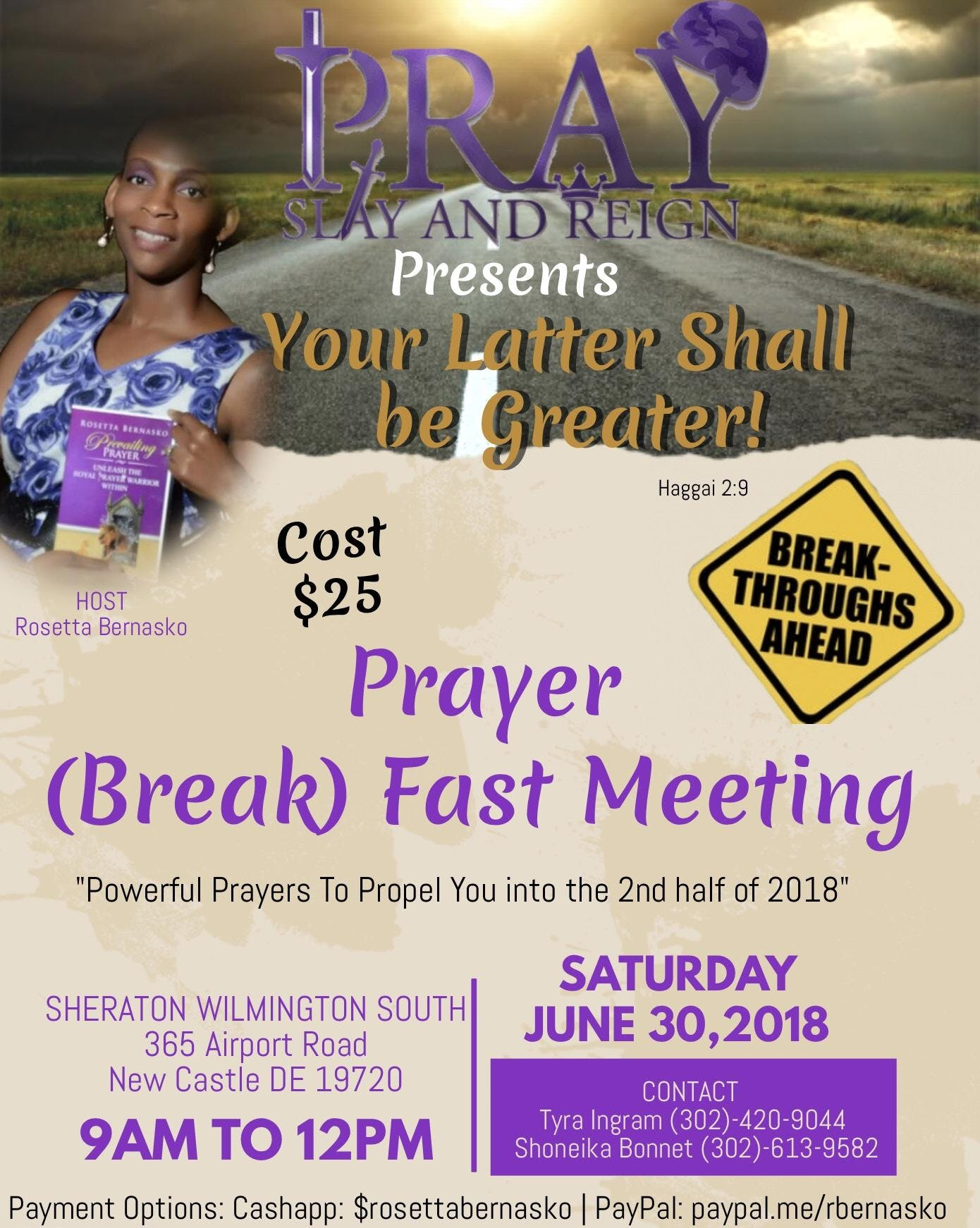 Prayer Breakfast Meeting Your Latter Shall Be Greater