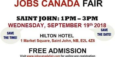 Free: St-John Job Fair – September 19, 2018