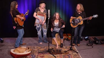 Duo Quartet featuring Chris Webster, Nina Gerber and Pam Delgado, Jeri Jones (of Blame Sally)