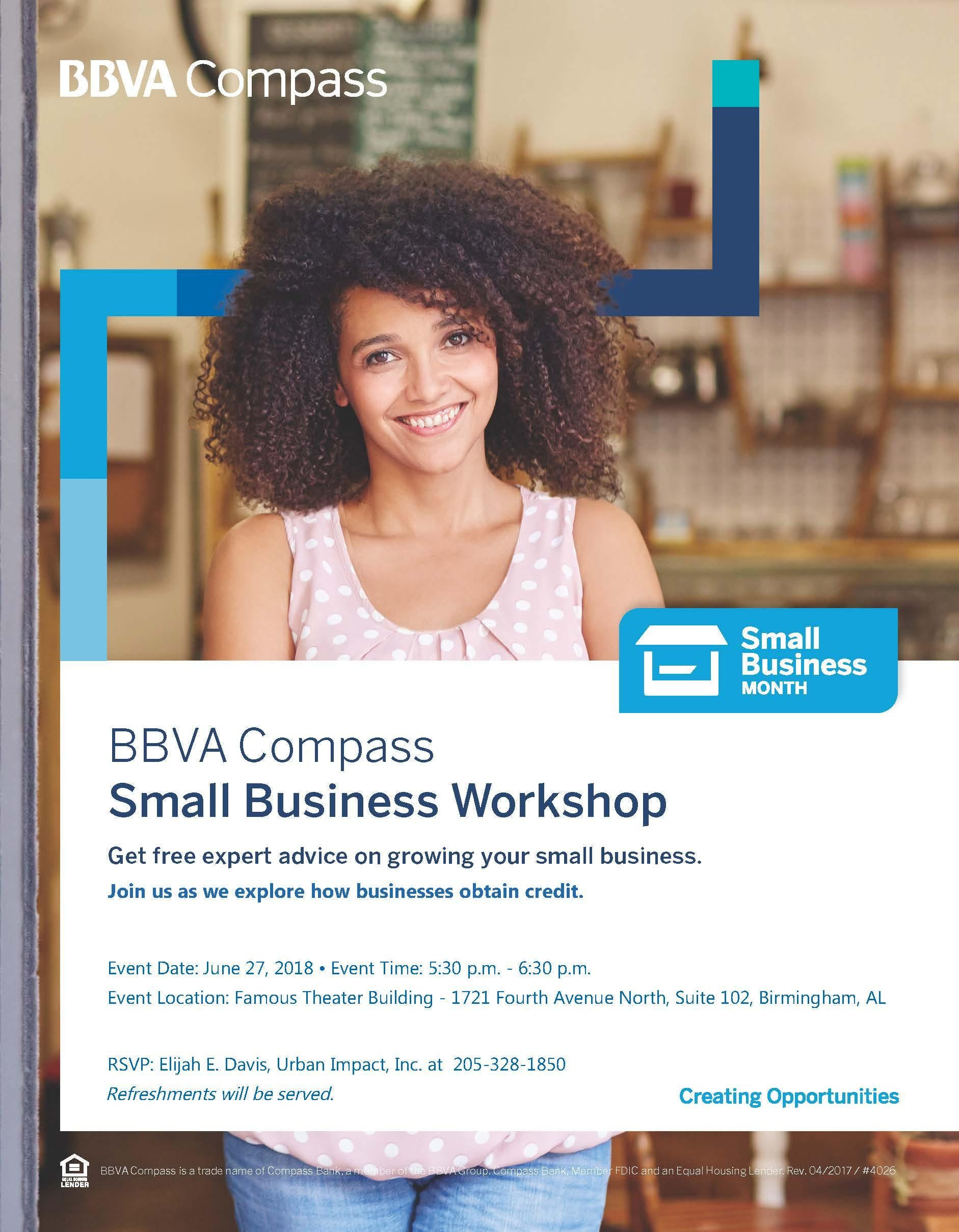 BBVA Compass Small Business Workshops in the