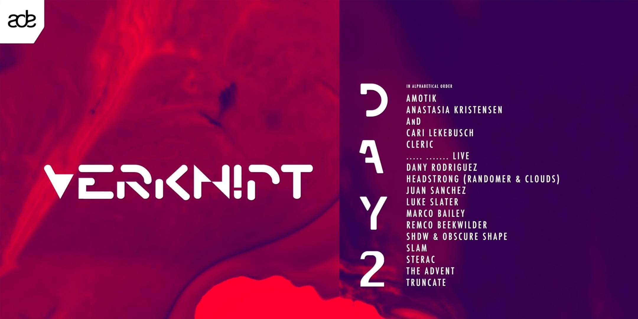 Verknipt ADE Day 2 | Techno Special