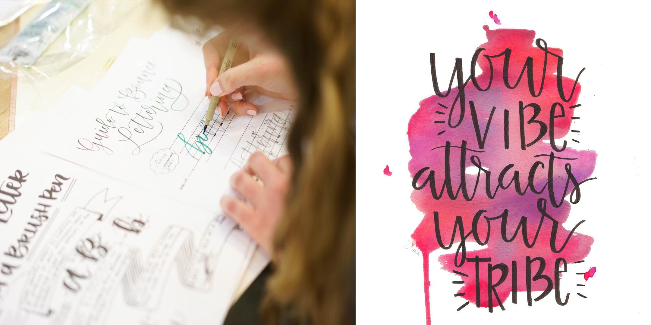 Bespoke Members Intro to Hand Lettering Works