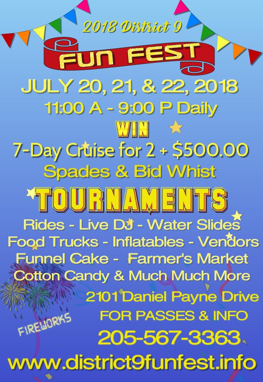 District 9 Fun Fest and Spades & Bid Whist To