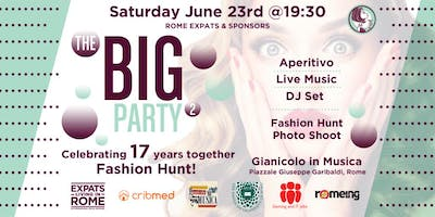 "Rome Expats & Sponsors: The BIG Party 2 ""Celebrating 17 Years Together"""