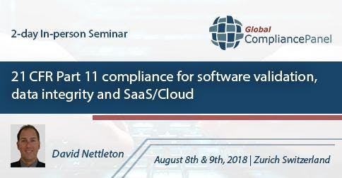 21CFRPart11 Compliance for Software Validation, Data Integrity & SaaS/Cloud