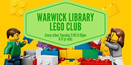 Warwick Library Lego Club tickets