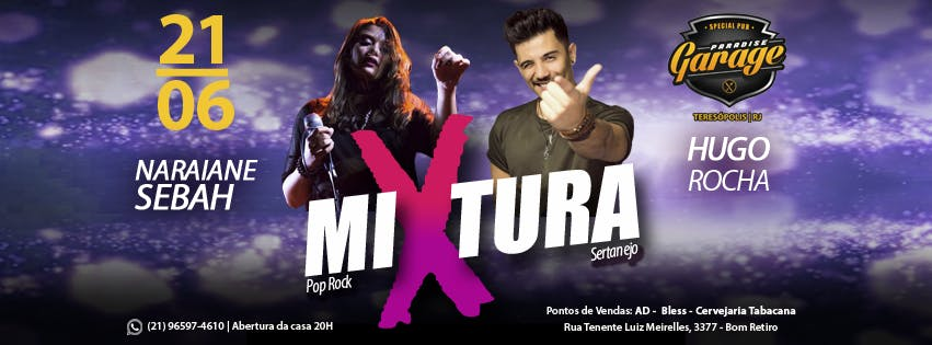 MIXTURA - Pop rock e Sertanejo