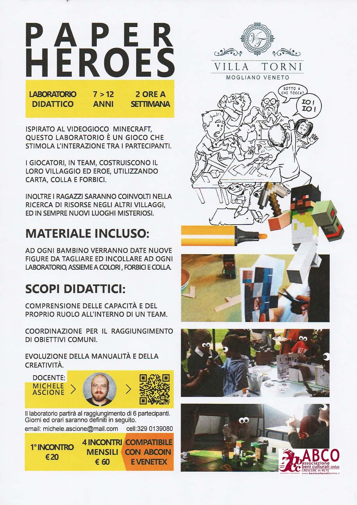 PAPER HEROES - laboratorio riCREATIVO