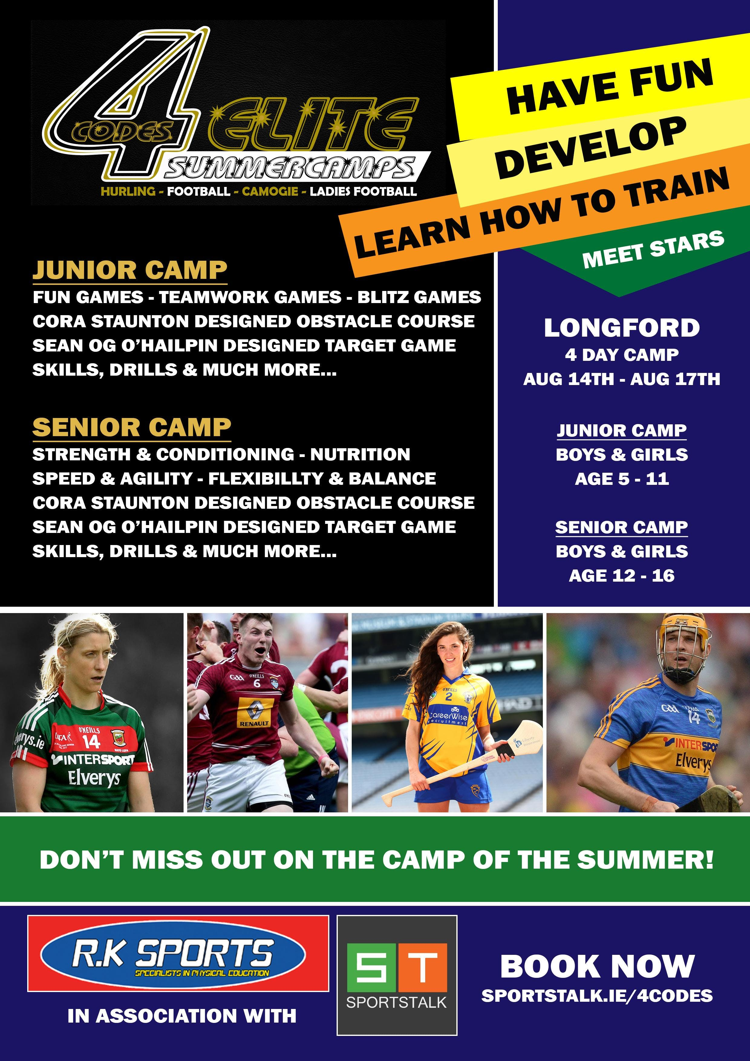 4Codes Elite Summer Camps - Longford Camp Family Ticket