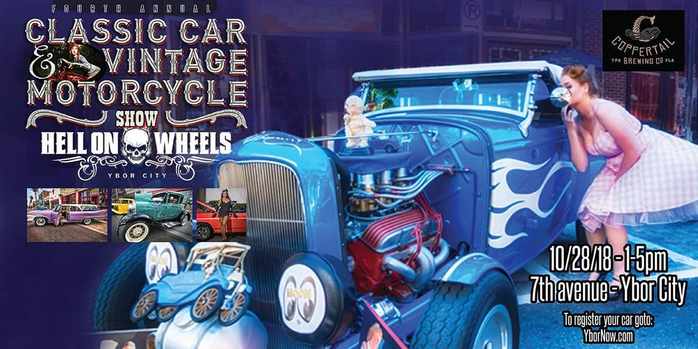 Th Annual FantasmaFest Hell On Wheels Classic Car Show Tickets - Classic car show clearwater fl