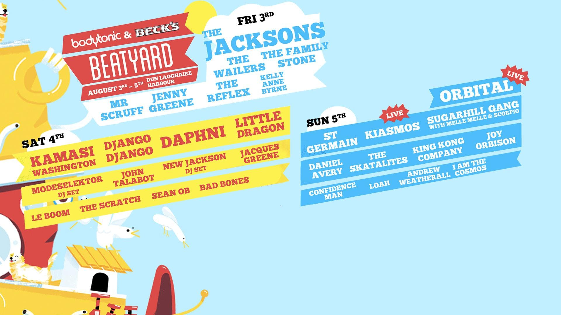Bodytonic present Beatyard 2018 : 3 day festival in Dublin