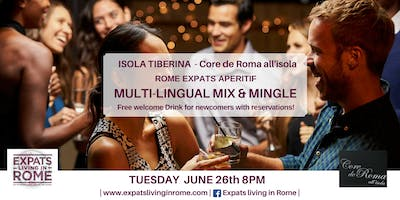 Rome Expats: Multi Lingual Mix & Mingle (Isola TIberina)