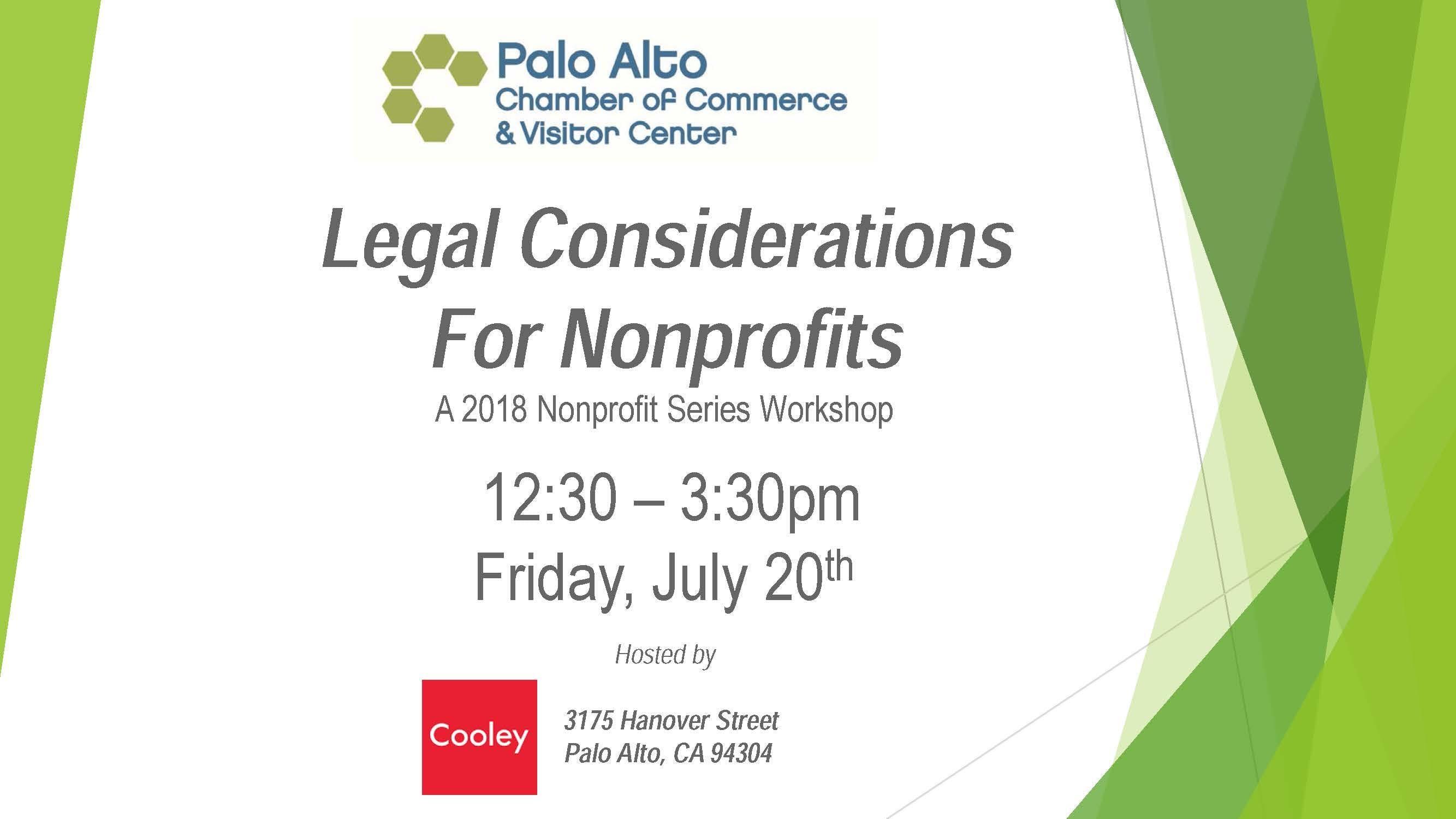 2018 Nonprofit Workshop Series - Legal Consid