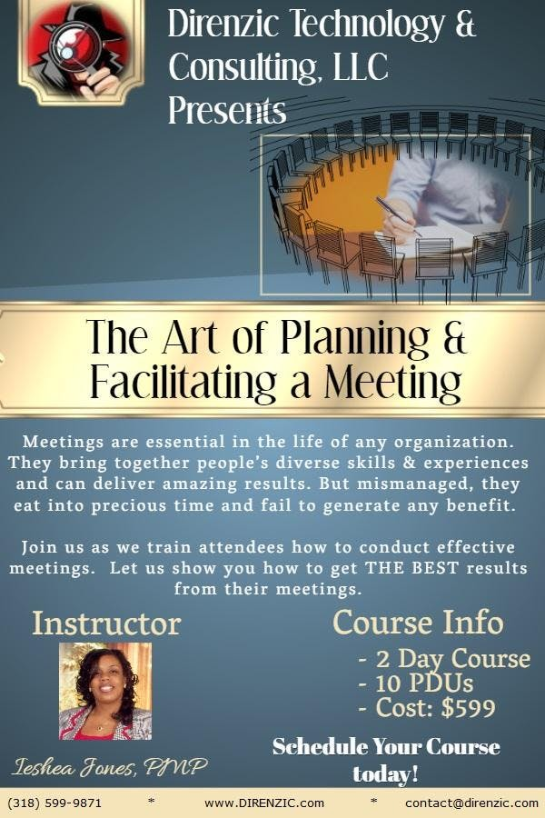 Intro To Planning & Facilitating a Meeting