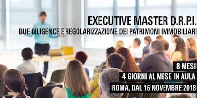 Executive Master DRPI: regolarizzazione dei patrimoni immobiliari