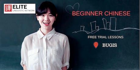 Conversational Chinese (Beginner Mandarin) Trial Lesson @ BUGIS tickets