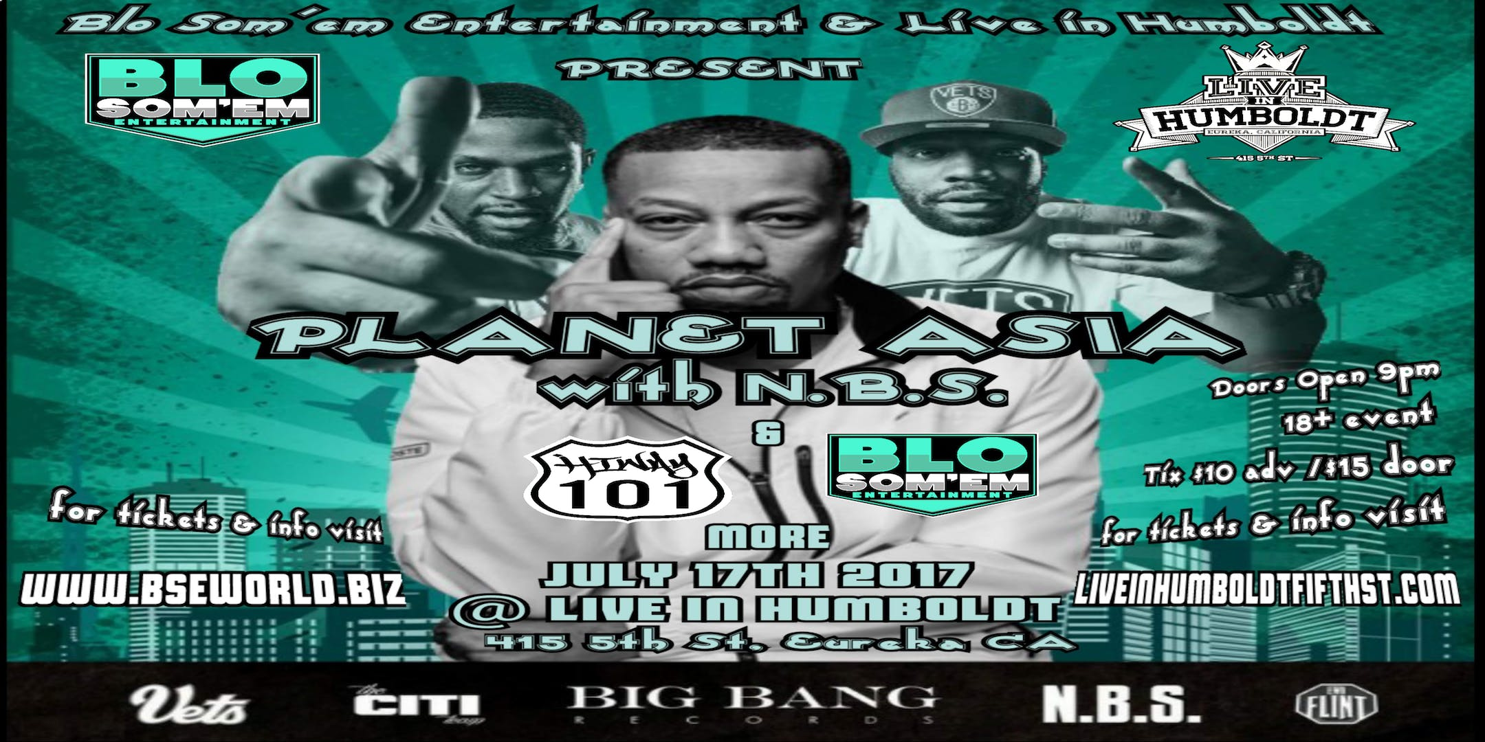 Planet Asia & N.B.S. LIVE IN HUMBOLDT