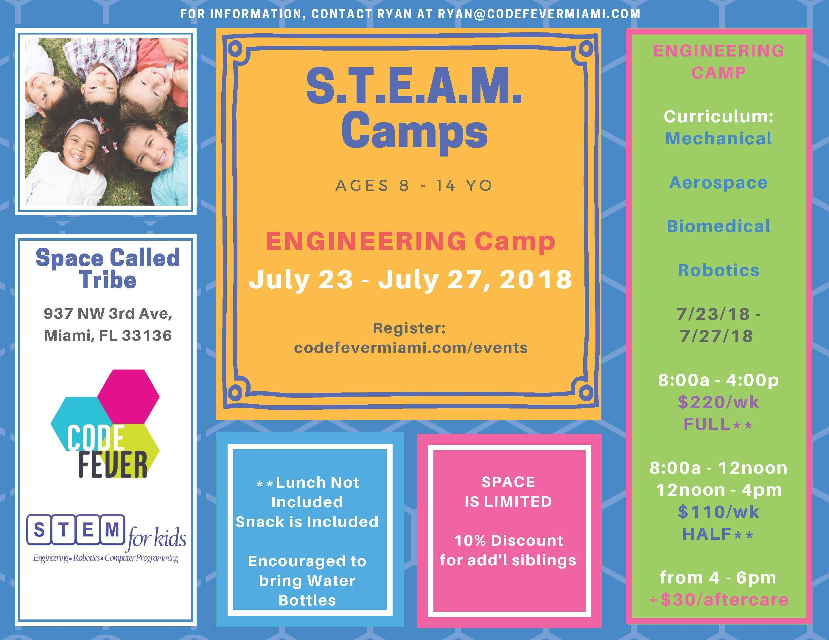 Engineering Summer Camp (ages 8 - 14 years ol
