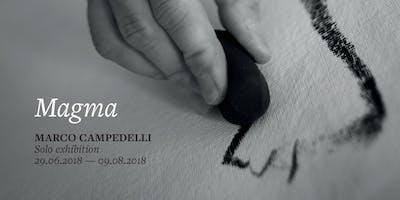 Vernissage Mostra d'Arte Contemporanea Magma in cantina Monteci