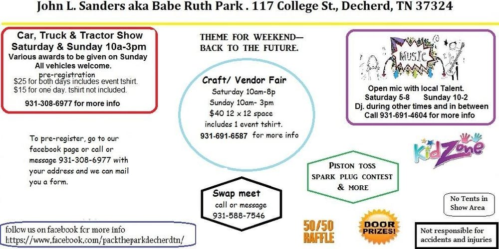Pack the Park Car, Truck, & Tractor Stuff the Bus event Tickets, Sat ...