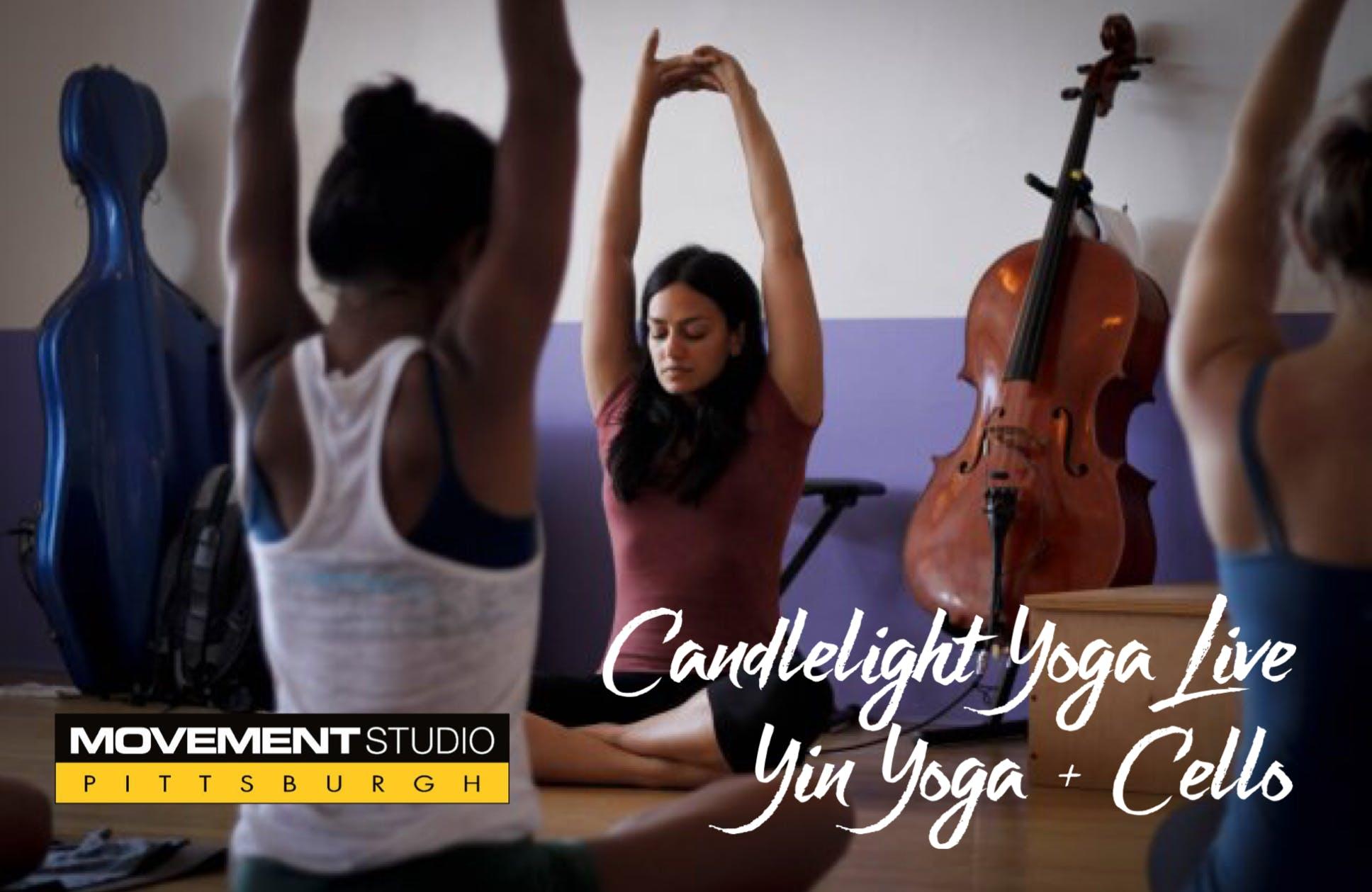 CANDLELIGHT YOGA LIVE - YIN YOGA + CELLO - 15 JUL 2018