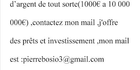 pierrebosio3@gmail.com ofre de prêt entre particulier sérieux
