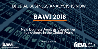 Business Analysis Workshop Italy - BAWI - 2018 (7 CDU/PDU!)