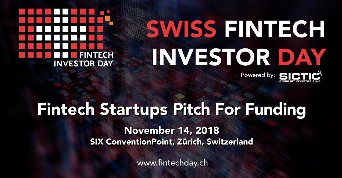 Swiss Fintech Investor Day 2018