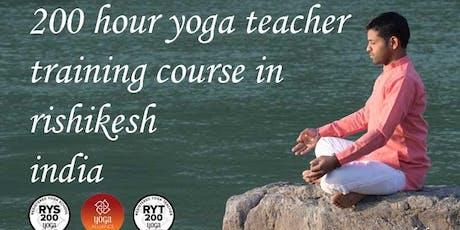 200 Hour Yoga ttc in Rishikesh India tickets